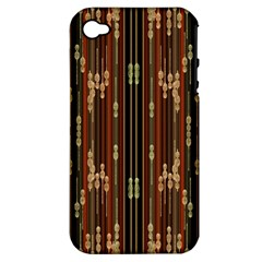 Floral Strings Pattern  Apple iPhone 4/4S Hardshell Case (PC+Silicone)