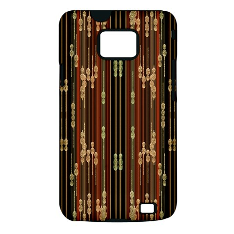 Floral Strings Pattern  Samsung Galaxy S II i9100 Hardshell Case (PC+Silicone)