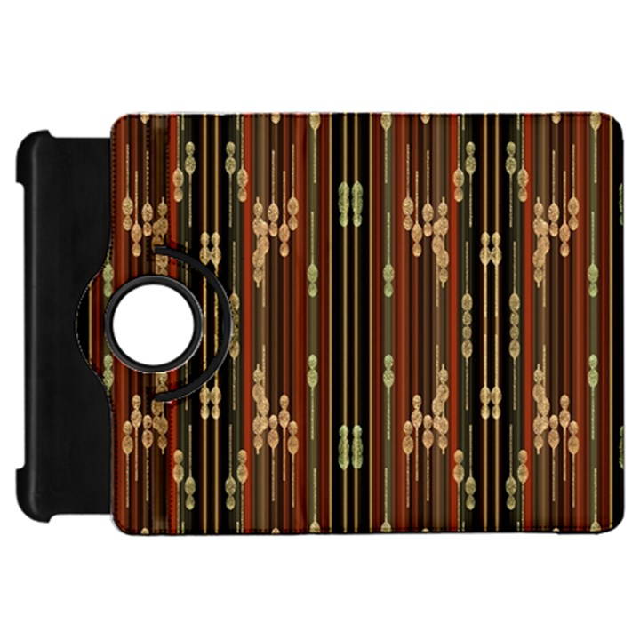 Floral Strings Pattern  Kindle Fire HD Flip 360 Case