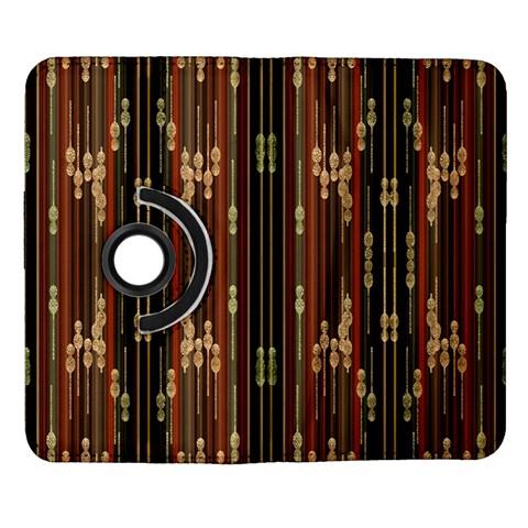 Floral Strings Pattern  Samsung Galaxy Note II Flip 360 Case