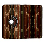 Floral Strings Pattern  Samsung Galaxy Note II Flip 360 Case Front