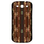 Floral Strings Pattern  Samsung Galaxy S3 S III Classic Hardshell Back Case Front