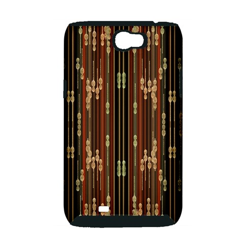 Floral Strings Pattern  Samsung Galaxy Note 2 Hardshell Case (PC+Silicone)