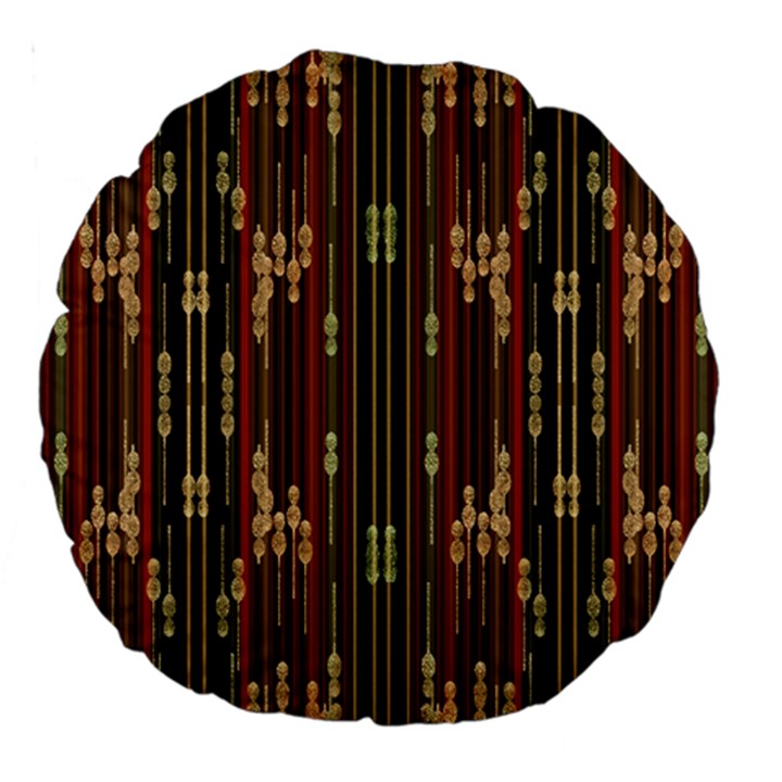 Floral Strings Pattern  Large 18  Premium Round Cushions