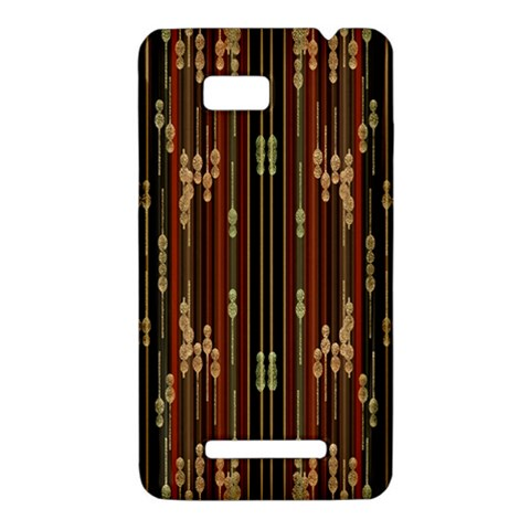 Floral Strings Pattern  HTC One SU T528W Hardshell Case