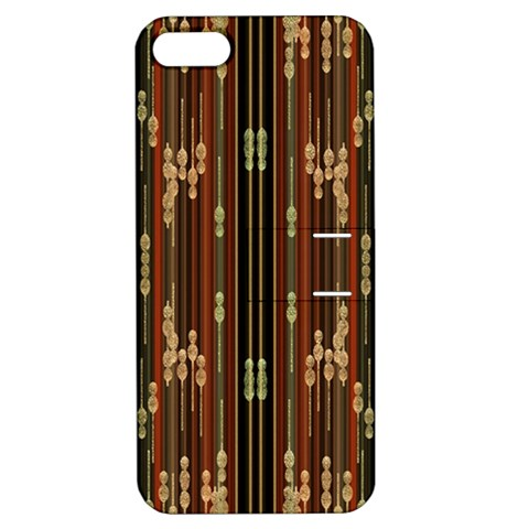 Floral Strings Pattern  Apple iPhone 5 Hardshell Case with Stand