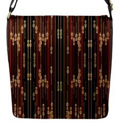 Floral Strings Pattern  Flap Messenger Bag (S)