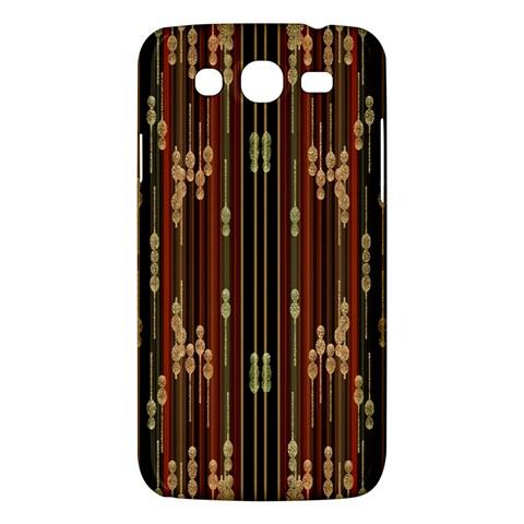 Floral Strings Pattern  Samsung Galaxy Mega 5.8 I9152 Hardshell Case
