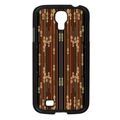 Floral Strings Pattern  Samsung Galaxy S4 I9500/ I9505 Case (Black)