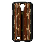 Floral Strings Pattern  Samsung Galaxy S4 I9500/ I9505 Case (Black) Front