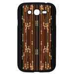 Floral Strings Pattern  Samsung Galaxy Grand DUOS I9082 Case (Black) Front
