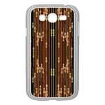 Floral Strings Pattern  Samsung Galaxy Grand DUOS I9082 Case (White) Front