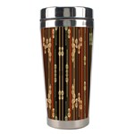 Floral Strings Pattern  Stainless Steel Travel Tumblers Left