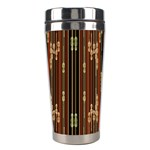 Floral Strings Pattern  Stainless Steel Travel Tumblers Center