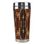 Floral Strings Pattern  Stainless Steel Travel Tumblers Right