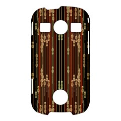 Floral Strings Pattern  Samsung Galaxy S7710 Xcover 2 Hardshell Case