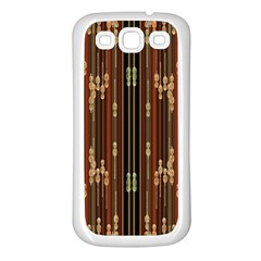 Floral Strings Pattern  Samsung Galaxy S3 Back Case (White)