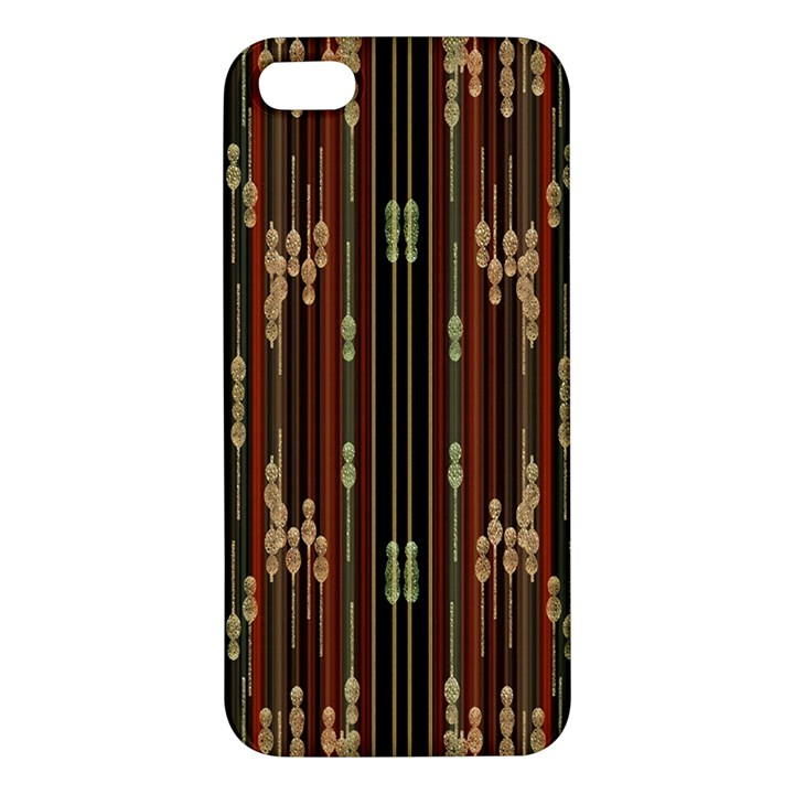 Floral Strings Pattern  iPhone 5S/ SE Premium Hardshell Case