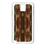 Floral Strings Pattern  Samsung Galaxy Note 3 N9005 Case (White) Front