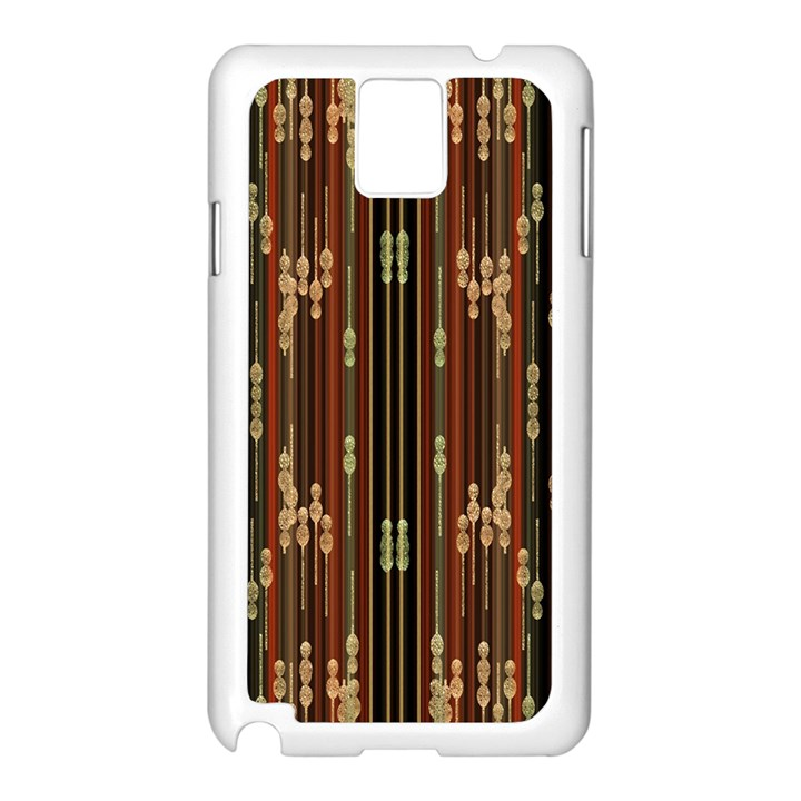 Floral Strings Pattern  Samsung Galaxy Note 3 N9005 Case (White)