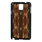 Floral Strings Pattern  Samsung Galaxy Note 3 N9005 Case (Black) Front