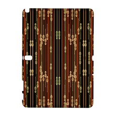 Floral Strings Pattern  Samsung Galaxy Note 10.1 (P600) Hardshell Case