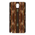 Floral Strings Pattern  Samsung Galaxy Note 3 N9005 Hardshell Back Case Front