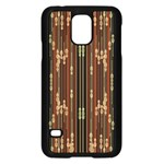 Floral Strings Pattern  Samsung Galaxy S5 Case (Black) Front