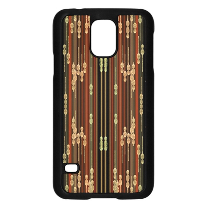 Floral Strings Pattern  Samsung Galaxy S5 Case (Black)