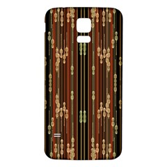 Floral Strings Pattern  Samsung Galaxy S5 Back Case (White)