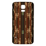 Floral Strings Pattern  Samsung Galaxy S5 Back Case (White) Front