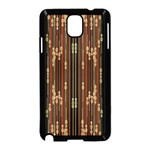 Floral Strings Pattern  Samsung Galaxy Note 3 Neo Hardshell Case (Black) Front