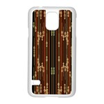 Floral Strings Pattern  Samsung Galaxy S5 Case (White) Front