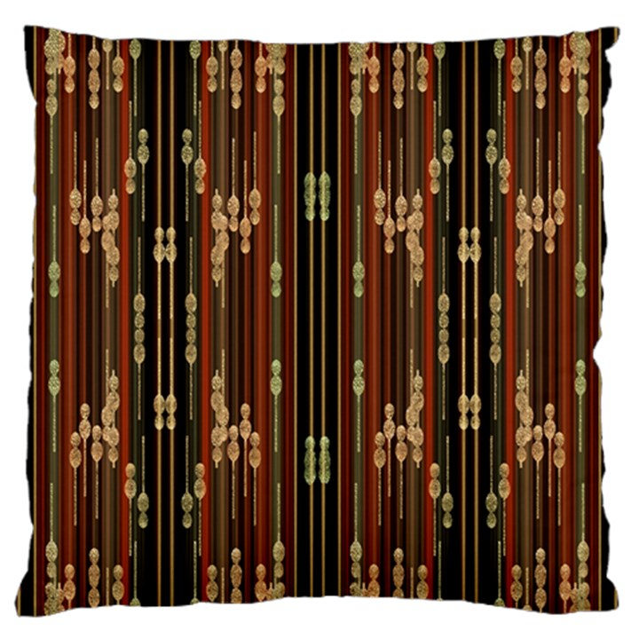 Floral Strings Pattern  Large Flano Cushion Case (One Side)