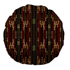Floral Strings Pattern  Large 18  Premium Flano Round Cushions
