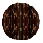 Floral Strings Pattern  Large 18  Premium Flano Round Cushions Back