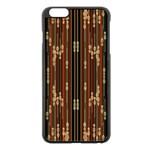 Floral Strings Pattern  Apple iPhone 6 Plus/6S Plus Black Enamel Case Front