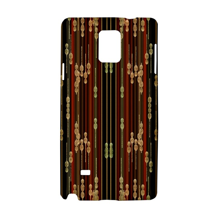 Floral Strings Pattern  Samsung Galaxy Note 4 Hardshell Case