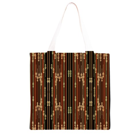 Floral Strings Pattern  Grocery Light Tote Bag