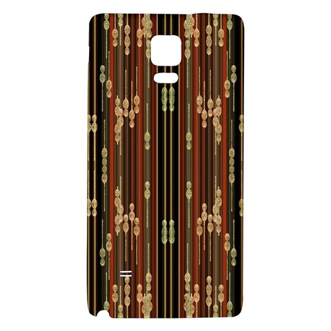 Floral Strings Pattern  Galaxy Note 4 Back Case