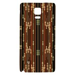 Floral Strings Pattern  Galaxy Note 4 Back Case Front