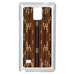 Floral Strings Pattern  Samsung Galaxy Note 4 Case (White) Front
