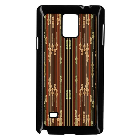 Floral Strings Pattern  Samsung Galaxy Note 4 Case (Black)