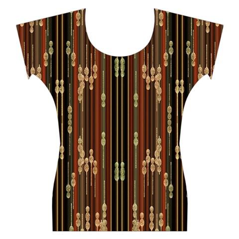 Floral Strings Pattern  Women s Cap Sleeve Top