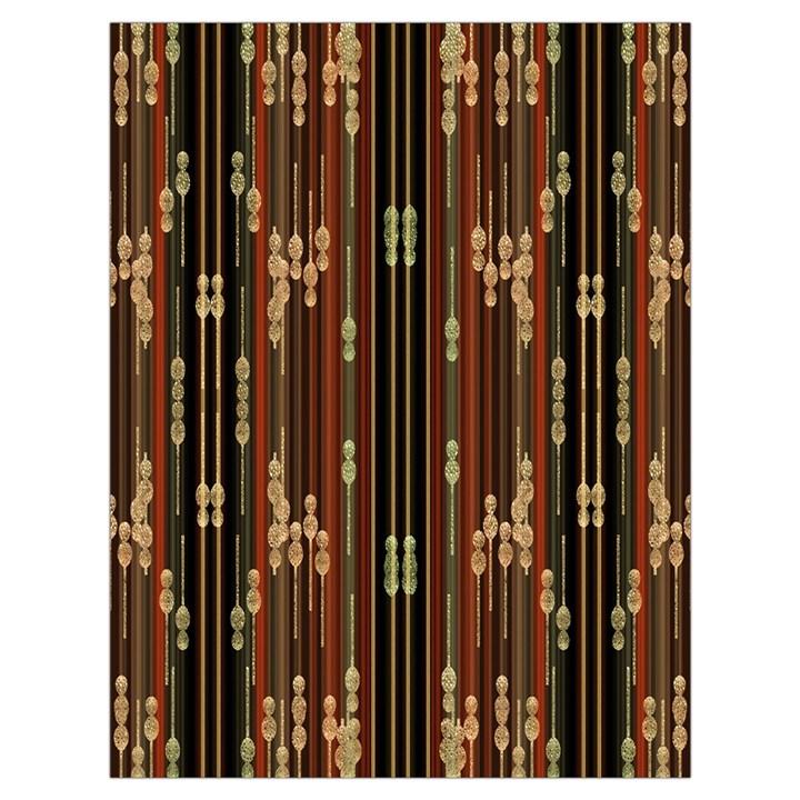 Floral Strings Pattern  Drawstring Bag (Large)