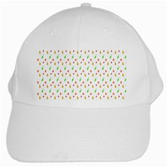 Fruit Pattern Vector Background White Cap