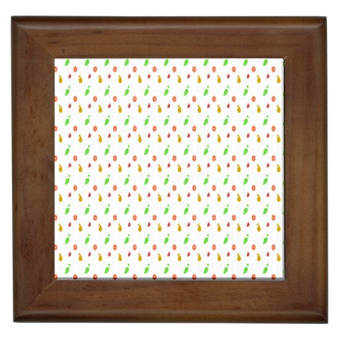 Fruit Pattern Vector Background Framed Tiles