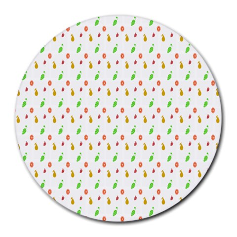Fruit Pattern Vector Background Round Mousepads