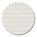Fruit Pattern Vector Background Round Mousepads Front