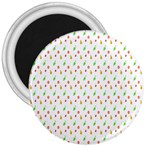 Fruit Pattern Vector Background 3  Magnets Front